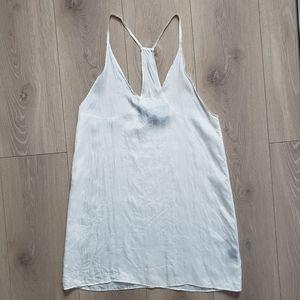 Reformation racerback silk dress white size XS